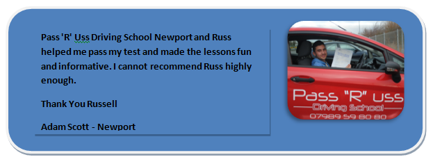 Pass R Uss Driving School Newport Testimonial 1 Adam Scott