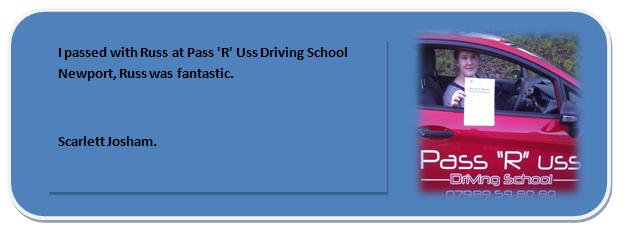 Pass R Uss Driving School Newport Testimonial 6 Scarlett Josham